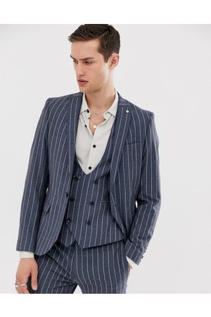 Twisted Tailor Super skinny suit jacket in pinstripe