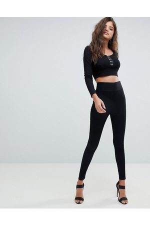 ASOS Pull on jeggings in clean with wide waistband detail