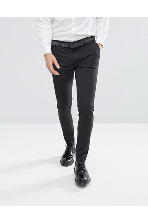 ASOS Super skinny smart trousers in charcoal