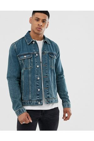 ASOS Regular denim jacket in mid wash