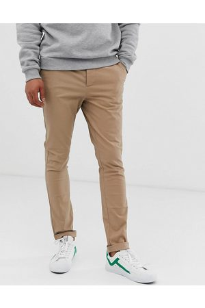 ASOS Super skinny chinos in stone-Neutral