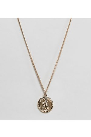 Reclaimed Vintage Inspired St Christopher necklace in exclusive at ASOS