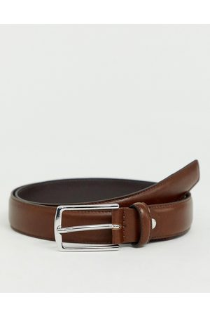 Jack & Jones Premium leather belt in brown