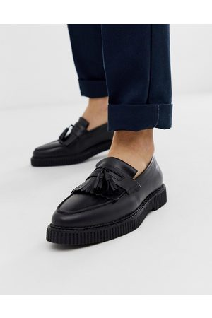 ASOS Loafers in leather with creeper sole