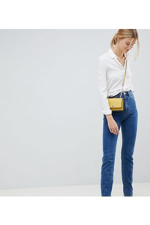 ASOS Tall ASOS DESIGN Tall Recycled Farleigh high waisted slim mom jeans in flat