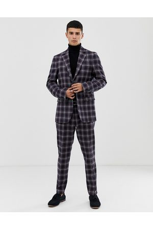 Benetton Slim fit suit jacket with stretch in check print