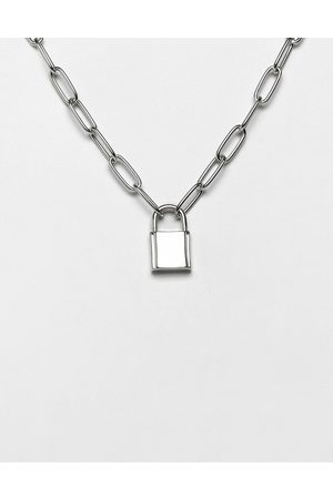 ASOS Necklace with hardware chain and padlock in