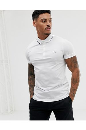 Armani Slim fit tipped logo polo in