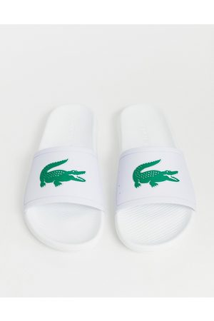 Lacoste Croco sliders in
