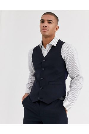 ASOS Wedding skinny suit waistcoat in wool blend in