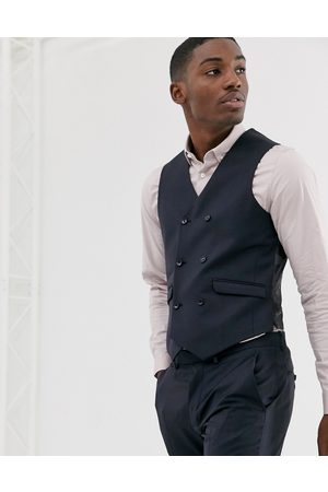 ASOS Wedding slim suit waistcoat in 100% wool
