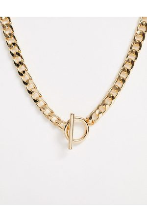 ASOS Necklace with t bar and curb chain in tone