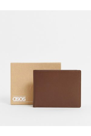 ASOS Leather wallet in with internal coin purse