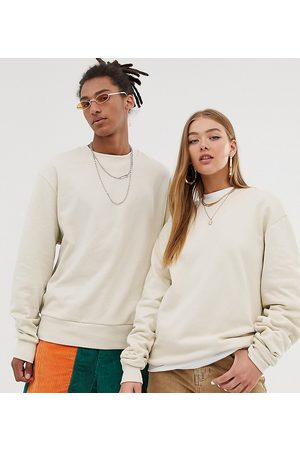 COLLUSION Unisex sweatshirt in ecru
