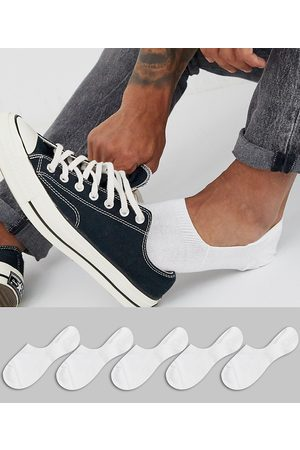 ASOS 5 pack invisible liner sock in save