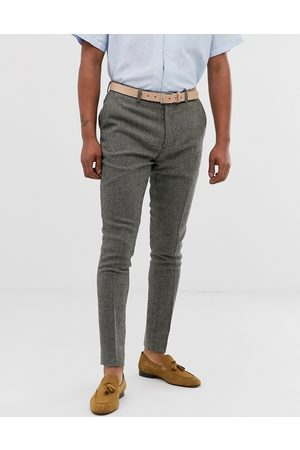 ASOS Super skinny smart trousers in dog tooth