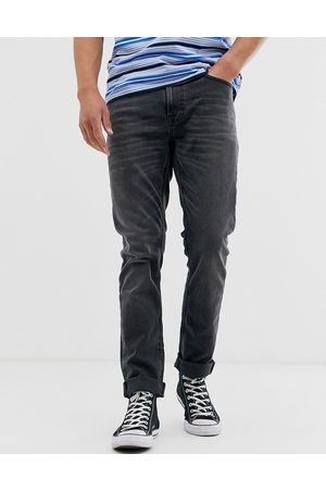 Nudie Co Lean Dean slim tapered fit jeans in mono wash