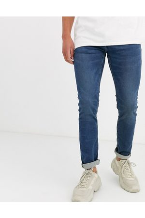 Only & Sons Slim fit mid wash jeans