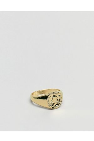 ASOS Pinky ring with coin in tone