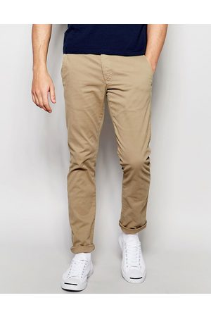 Selected Skinny fit stretch chinos in sand