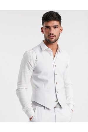ASOS Wedding slim suit waistcoat in light
