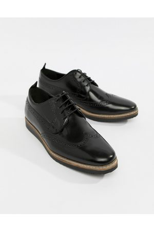 ASOS Men Brogues - Brogue shoes in leather with wedge sole