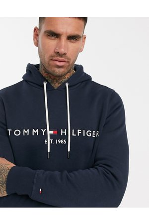 Tommy Hilfiger Embroidered flag logo hoodie in
