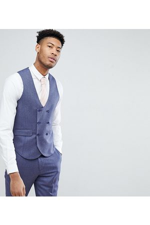 ASOS ASOS TALL WEDDING Slim Suit Waistcoat in Deep 100% Merino Wool