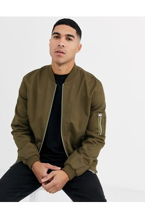 ASOS Bomber jacket with MA1 pocket in khaki