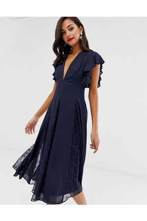ASOS Midi dress with lace godet panels
