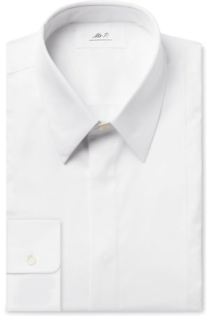 Mr P. Men Business - Slim-Fit Bib-Front Cotton Tuxedo Shirt