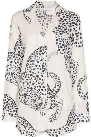 Desmond & Dempsey The Jag print cotton pyjamas set
