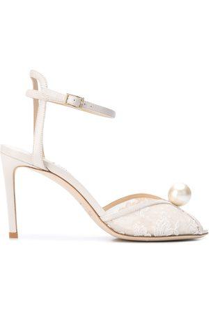 Jimmy Choo Sacora 85mm pearl-embellished sandals