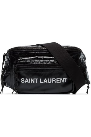 Saint Laurent Men Belts - Logo printed padded belt bag