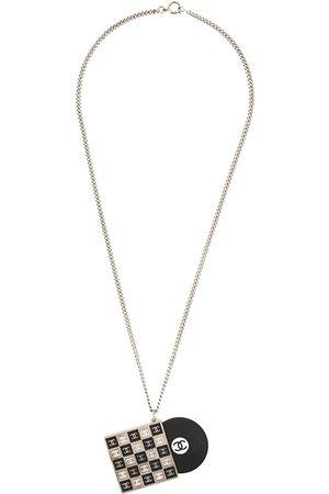 CHANEL Vinyl pendant necklace