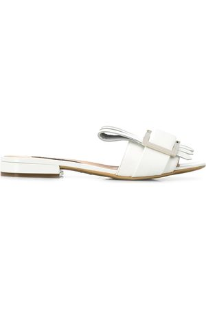 Sergio Rossi Pleated leather sandals