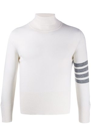 Thom Browne 4-Bar turtleneck jumper