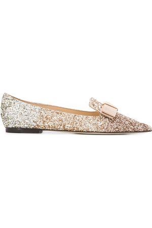 Jimmy choo Gala glitter ballerina shoes