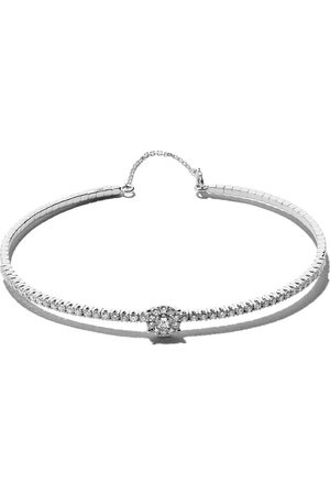 AS29 18kt white gold Mye halo diamond bangle