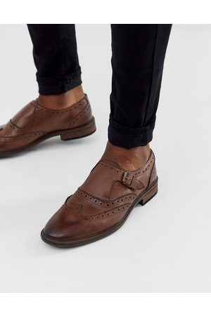 ASOS Monk shoes in leather with brogue detail