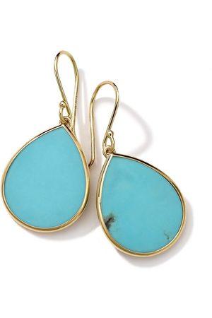 Ippolita 18kt yellow small Polished Rock Candy Teardrop turquoise earrings