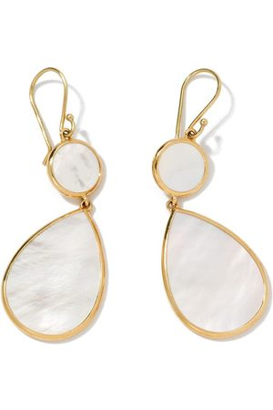 Ippolita 18kt yellow Polished Rock Candy Snowman mother-of-pearl drop earrings