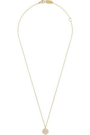 Ippolita 18kt yellow small Stardust pave flower pendant necklace