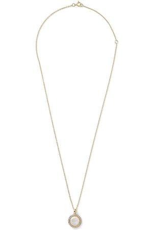 Ippolita 18kt yellow mini Lollipop mother-of-pear, diamond and clear quartz pendant necklace