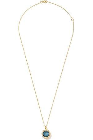 Ippolita 18kt yellow mini Lollipop diamond and Swiss blue topaz pendant necklace