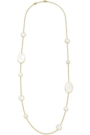 Ippolita 18kt yellow Polished Rock Candy mother-of-pearl station necklace