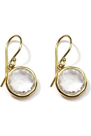 Ippolita 18kt yellow Lollipop clear quartz drop earrings
