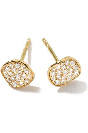 Ippolita 18kt yellow mini Stardust Flower pave diamond studs