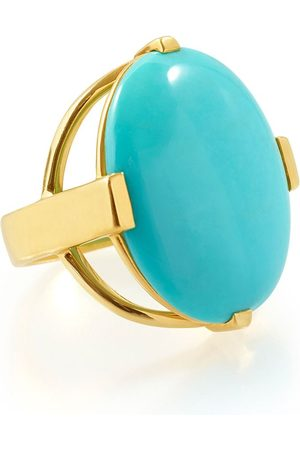 Ippolita Women Rings - 18kt yellow Polished Rock Candy turquoise oval ring
