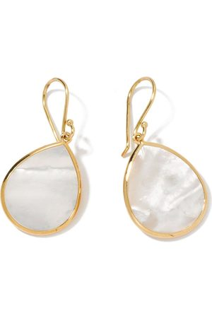 Ippolita 18kt yellow small Polished Rock Candy Single Stone Teardrop mother-of-pearl earrings